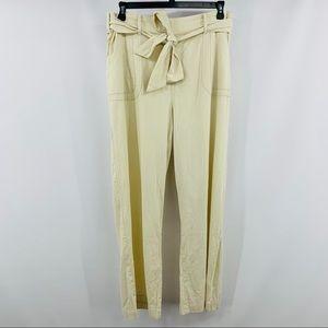 Torrid Cream Birch Wide Leg Linen Trouser